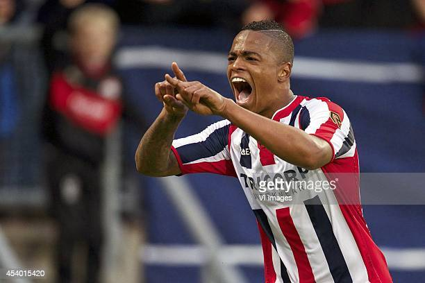 Charlton Vicento of Willem II during the Dutch Eredivisie match between Willem II and AZ at the Koning Willem II stadium on august 23 2014 in Tilburg...