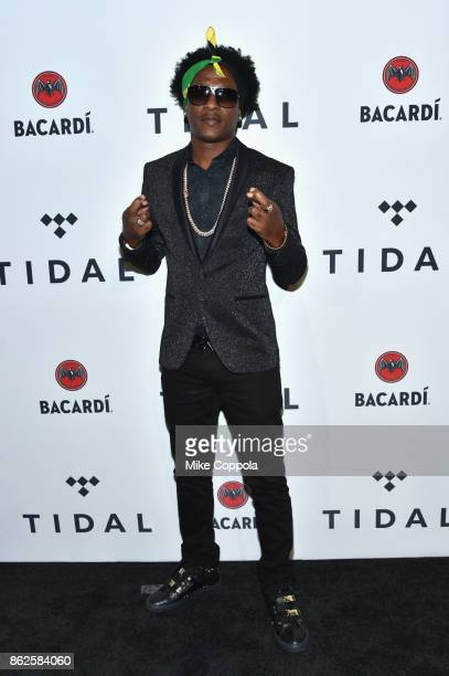 Charly Black attends TIDAL X Brooklyn at Barclays Center of Brooklyn on October 17 2017 in New York City