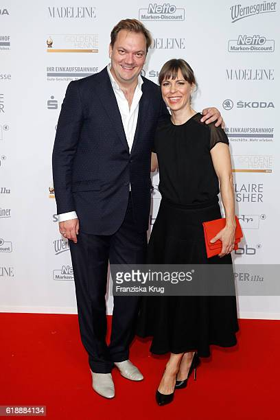 Charly Huebner and Anneke Kim Sarnau attend the Goldene Henne on October 28 2016 in Leipzig Germany