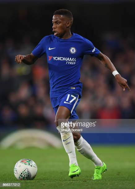 Charly Musonda Jr of Chelsea runs with the ball during the Carabao Cup Fourth Round match between Chelsea and Everton at Stamford Bridge on October...