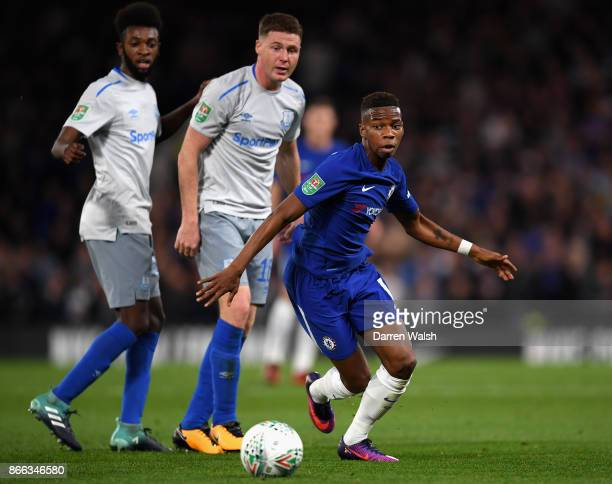 Charly Musonda of Chelsea and in action during the Carabao Cup Fourth Round match between Chelsea and Everton at Stamford Bridge on October 25 2017...