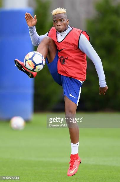 Charly Musonda of Chelsea during a training session at Chelsea Training Ground on August 10 2017 in Cobham England