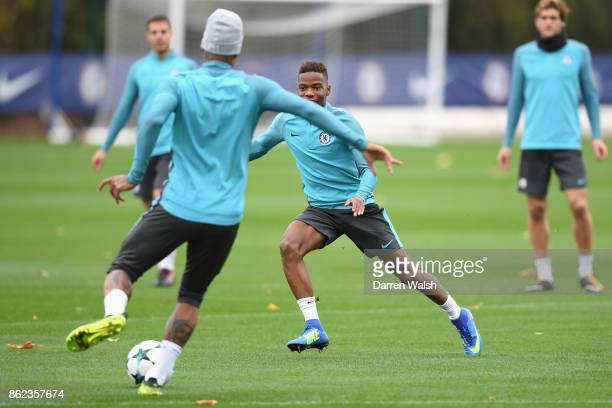 Charly Musonda of Chelsea during a training session at the Cobham Training Ground on October 17 2017 in Cobham England