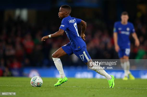 Charly Musonda of Chelsea during the Carabao Cup Third Round match between Chelsea and Nottingham Forest at Stamford Bridge on September 20 2017 in...
