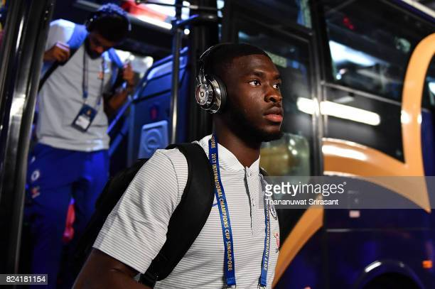 Charly Musonda of Chelsea FC arrives during the International Champions Cup match between FC Internazionale and Chelsea FC at National Stadium on...