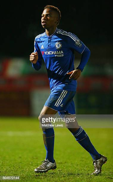 Charly Musonda of Chelsea in action during the Barclays U21 Premier League match between Tottenham Hotspur U21 and Chelsea U21 at The Lamex Stadium...