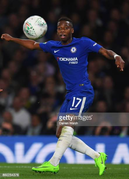Charly Musonda of Chelsea in action during the Carabao Cup Third Round match between Chelsea and Nottingham Forest at Stamford Bridge on September 19...