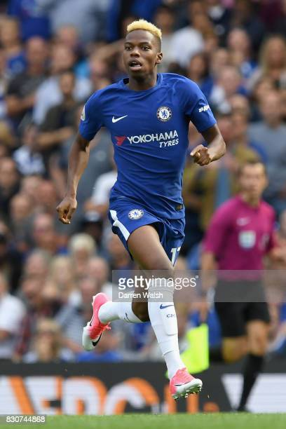 Charly Musonda of Chelsea in action during the Premier League match between Chelsea and Burnley at Stamford Bridge on August 12 2017 in London England