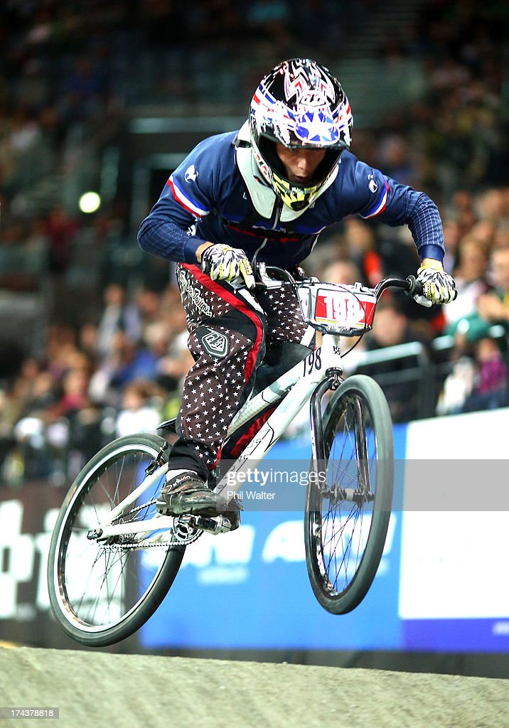 Charly Omont of France in action during day two of the UCI BMX World Championships at Vector Arena on July 25, 2013 in Auckland, New Zealand.
