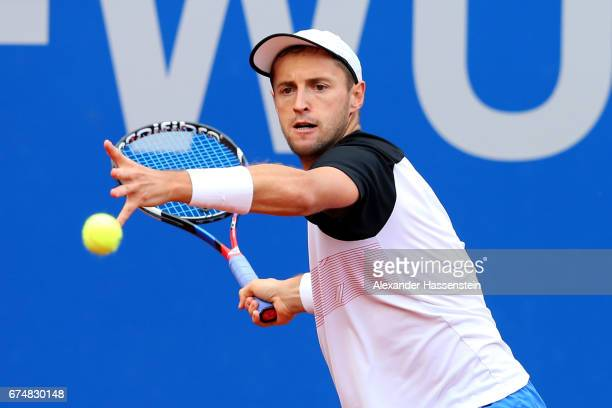Charly Zick of Germany during his qualification match against Charly Zick of Germany for the 102 BMW Open by FWU at Iphitos tennis club on April 29...