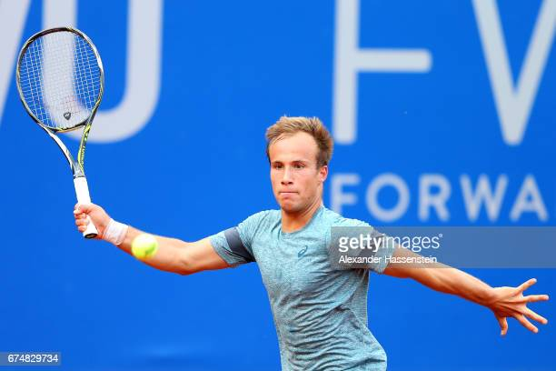 Charly Zick of Germany during his qualification match against Uladzimir Ignatik of Belarus for the 102 BMW Open by FWU at Iphitos tennis club on...