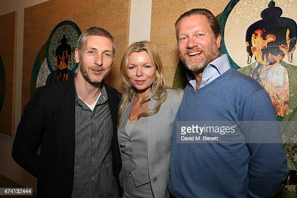 Charming Baker Fru Tholstrup and Soren Tholstrup attend the Art15 Preview Night Freedom Audit Exhibition at Kensington Olympia on May 20 2015 in...