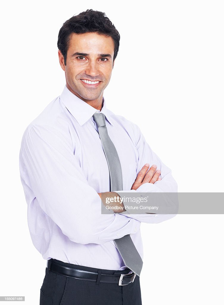 Charming business man smiling : Stock Photo