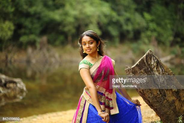 Charming Indian Woman in the Outdoors