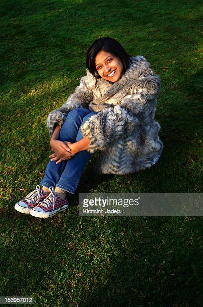 Charming Indian Woman Smiling