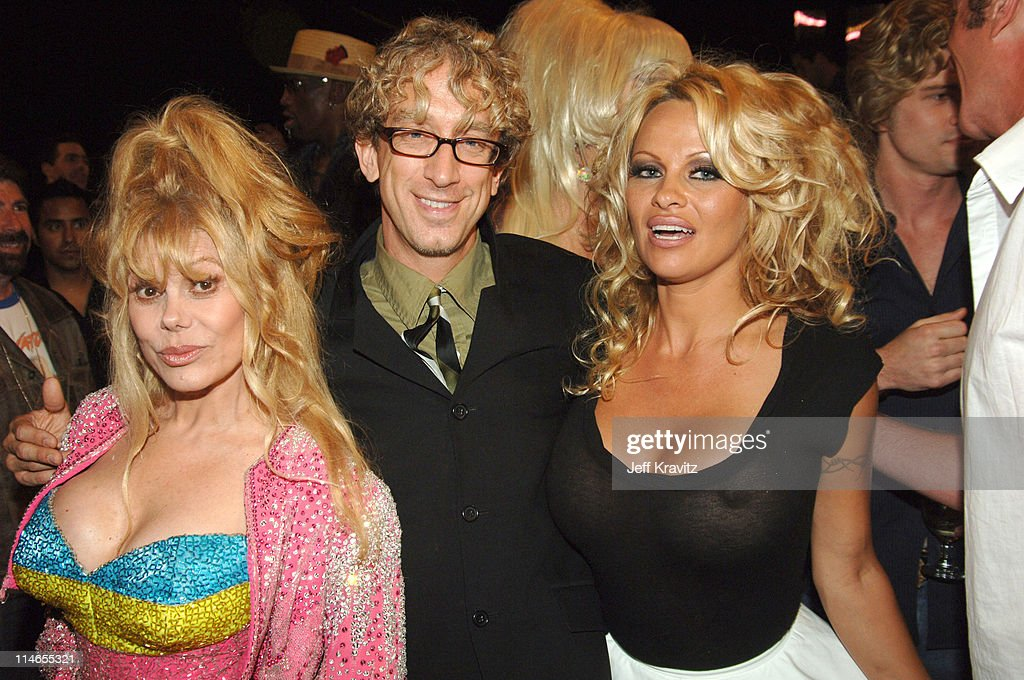Charo Andy Dick and Pamela Anderson during Comedy Central Roast of Pamela Anderson Backstage Green Room and Audience at Sony Pictures Studios in...