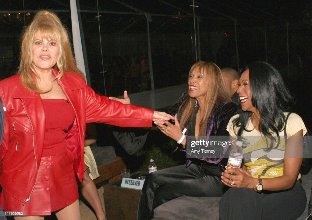 <a gi-track='captionPersonalityLinkClicked' href=/galleries/search?phrase=Charo&family=editorial&specificpeople=242999 ng-click='$event.stopPropagation()'>Charo</a>, <a gi-track='captionPersonalityLinkClicked' href=/galleries/search?phrase=Anita+Pointer&family=editorial&specificpeople=828163 ng-click='$event.stopPropagation()'>Anita Pointer</a> and Ruth Pointer during 2006 William Morris Agency GRAMMY After Party at Sam Nazarian's Private Residence in Los Angeles, California, United States.