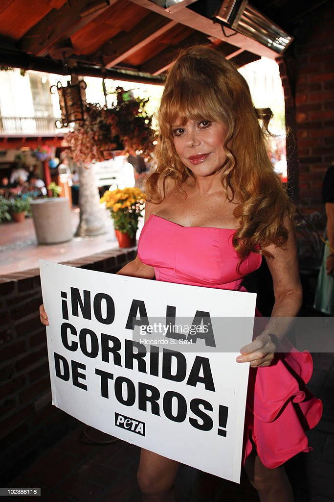 Charo attends the launch of a PETA Video leads AntiBullfighting Rally On Olvera Street on June 24 2010 in Los Angeles California