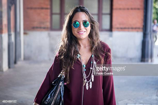 Charo wears Zara dress 100Pasos boots and Purificacion Garcia handbag during the 'Mercado de Motores' at 'Museo del Ferrocarril' on October 13 2015...