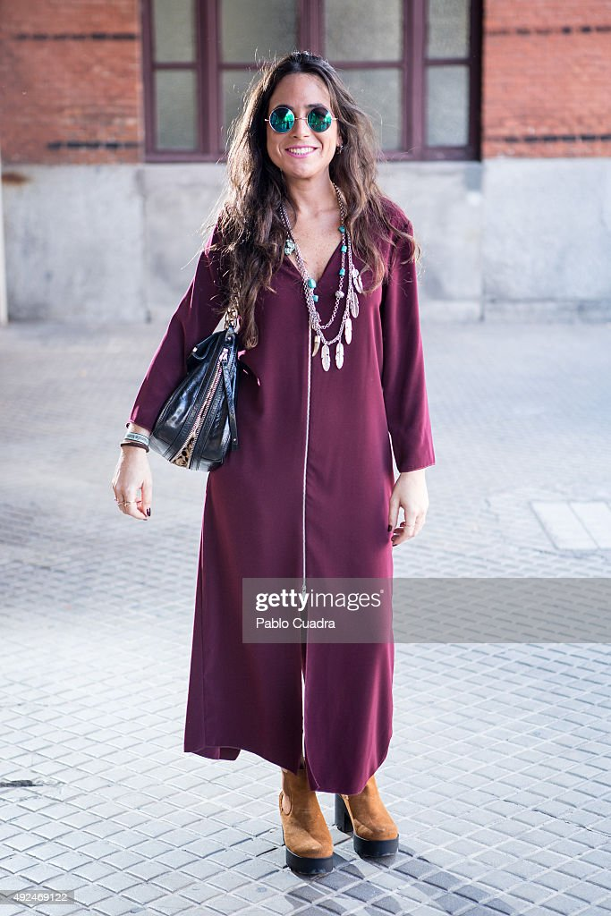 Charo wears Zara dress 100Pasos boots and Purificacion Garcia handbag during the 'Mercado de Motores' at 'Museo del Ferrocarril' on October 13 2015...