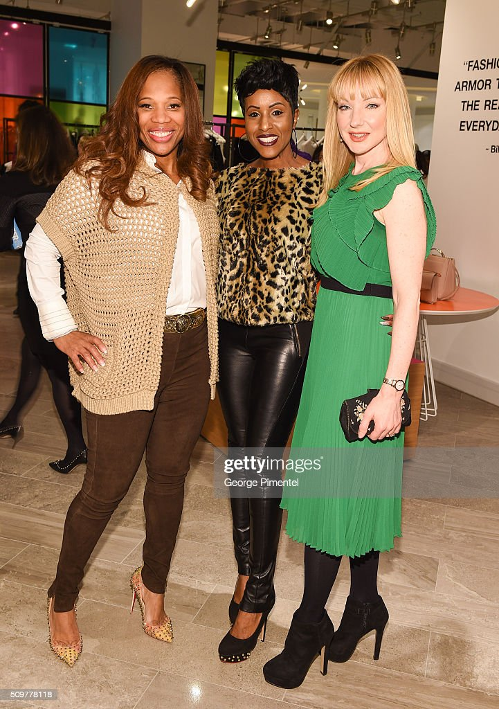 Charrisse Jackson Jordan, Diane Clemons and Jessica Holmes attend the Hudson's Bay Celebrates NBA All Star Weekend With Shopping Event In Support Of Behind The Bench And KickKids Hospital Foundation at The Room, Hudson's Bay on February 12, 2016 in Toronto, Canada.