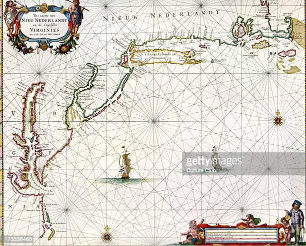 'Chart of the Nieuw Nederlandt and Virginia' published in Pieter Goos' 'De Zee Atlas ofte WaterWeereld' Amsterdam 1666