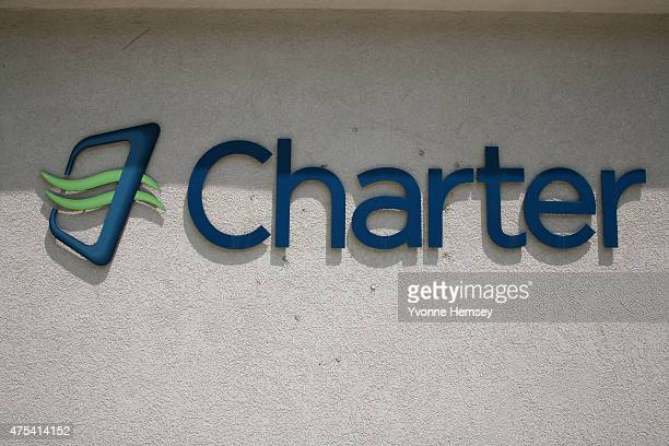 Charter Communications' logo is seen at their Newtown Connecticut location May 30 2015 Charter is attempting to acquire Time Warner Cable for $79...