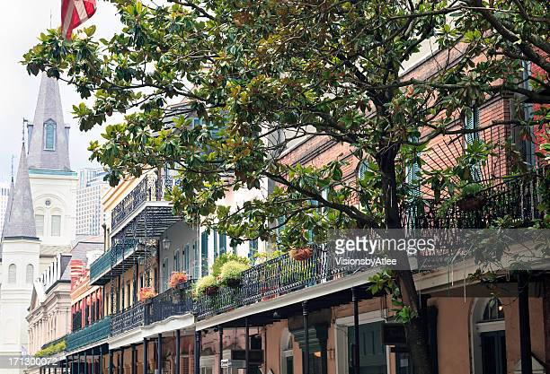 Chartres Street scene in the French Quarter
