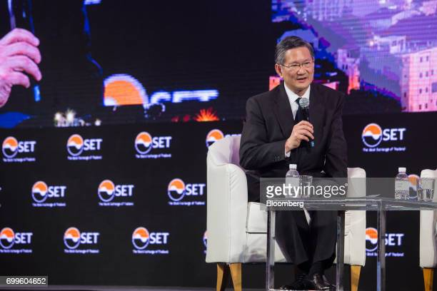 Chartsiri Sophonpanich president of Bangkok Bank Pcl speaks during the Thailand's Big Strategic Move forum in Bangkok Thailand on Thursday June 22...