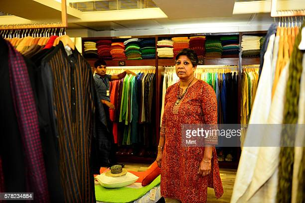 Charu Sharma of Fabindia posing during an exclusive interview on August 16 2014 in New Delhi India