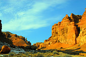 Kazakhstan, Charyn Canyon: Valley of the Castles - a touch of Colorado landscape - photo by M.Torres