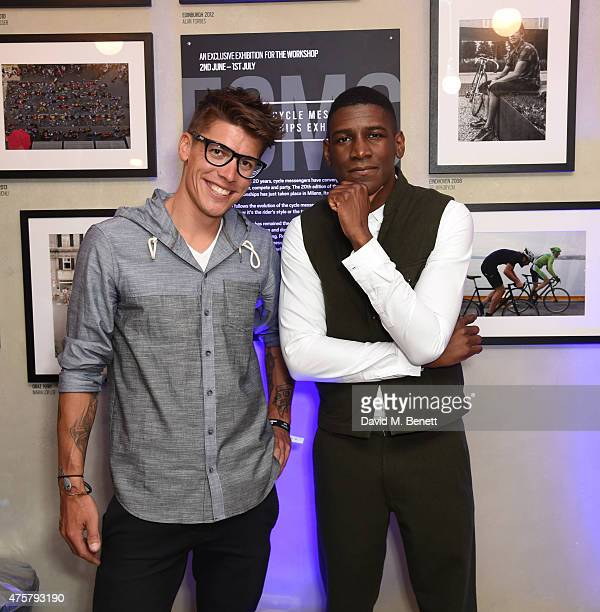 Chas Christiansen and Labrinth attend the launch of OAKLEY IN RESIDENCE LONDON a popup cycling destination and hangout for creative collaboration on...