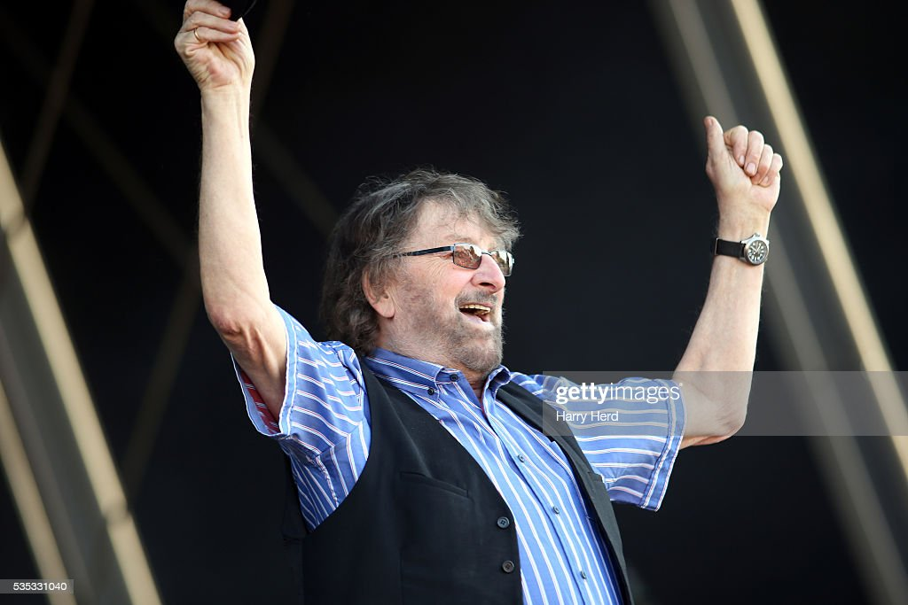 Chas Hodges of Chas and Dave performs at Common People Festival at Southampton Common on May 29, 2016 in Southampton, England.