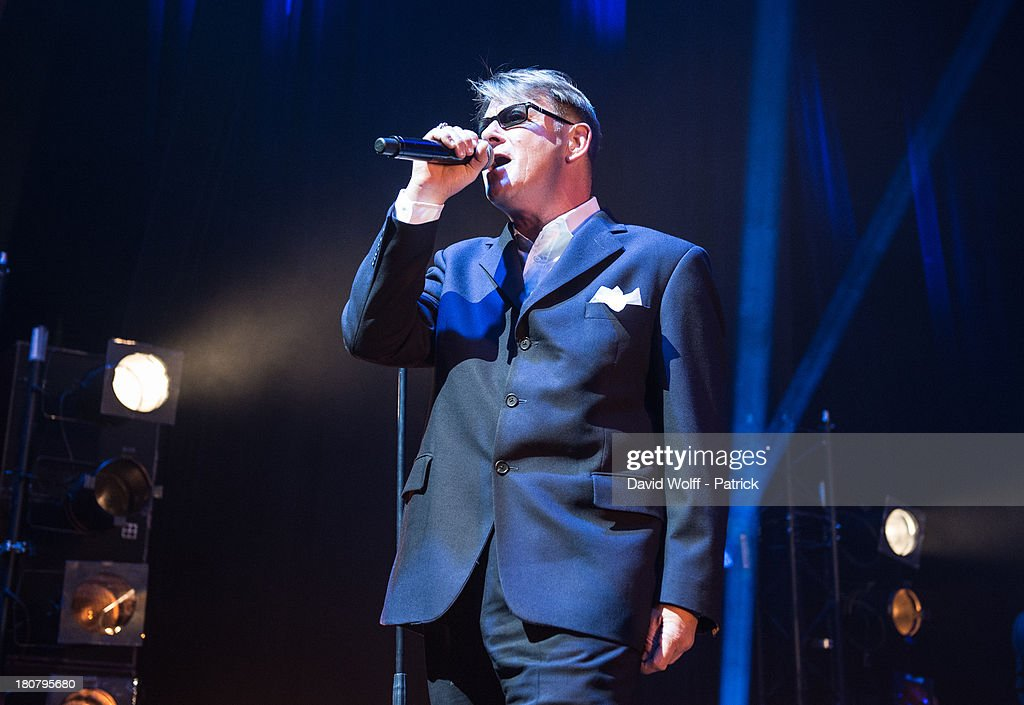Chas Smash from Madness performs at L'Olympia on September 16, 2013 in Paris, France.