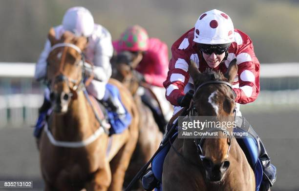 Chasca and Jim Crowley win The freebetscouk New Online Betting Forum Median Auction Maiden Stakes at Lingfield Park Racecourse Surrey