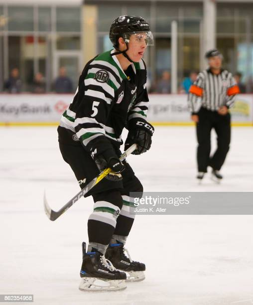 Chase Blackmun of the Cedar Rapids RoughRiders skates during the game against the Sioux Falls Stampede on Day 2 of the USHL Fall Classic at UPMC...