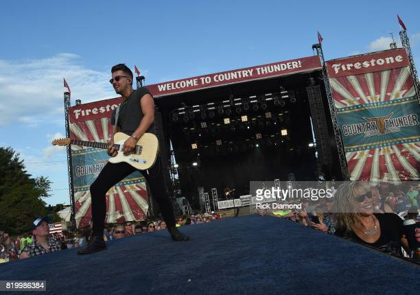 Chase Bryant performs at Country Thunder In Twin Lakes Wisconsin Day 1 on July 20 2017 in Twin Lakes Wisconsin