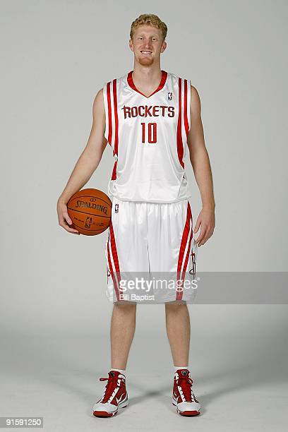 Chase Budinger of the Houston Rockets poses for a portrait during 2009 NBA Media Day on September 28 2009 at the Toyota Center in Houston Texas NOTE...
