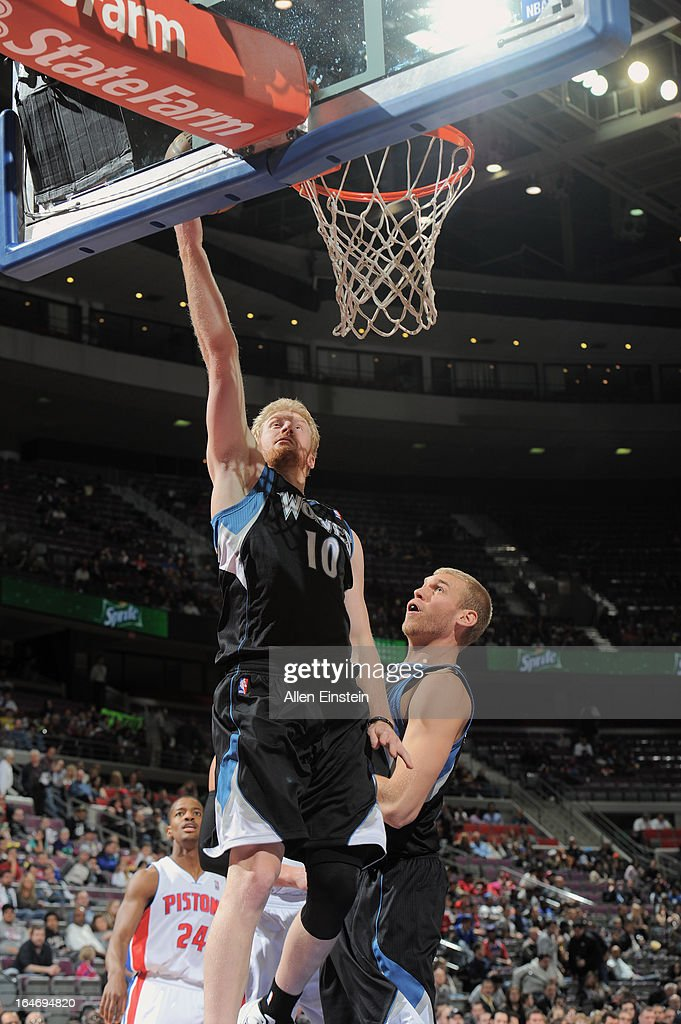 <a gi-track='captionPersonalityLinkClicked' href=/galleries/search?phrase=Chase+Budinger&family=editorial&specificpeople=3847600 ng-click='$event.stopPropagation()'>Chase Budinger</a> #10 of the Minnesota Timberwolves goes up for the layup against the Detroit Pistons during the game on March 26, 2013 at The Palace of Auburn Hills in Auburn Hills, Michigan.