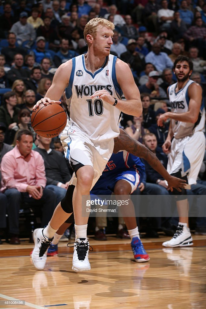 <a gi-track='captionPersonalityLinkClicked' href=/galleries/search?phrase=Chase+Budinger&family=editorial&specificpeople=3847600 ng-click='$event.stopPropagation()'>Chase Budinger</a> #10 of the Minnesota Timberwolves handles the ball against the Los Angeles Clippers on March 31, 2014 at Target Center in Minneapolis, Minnesota.