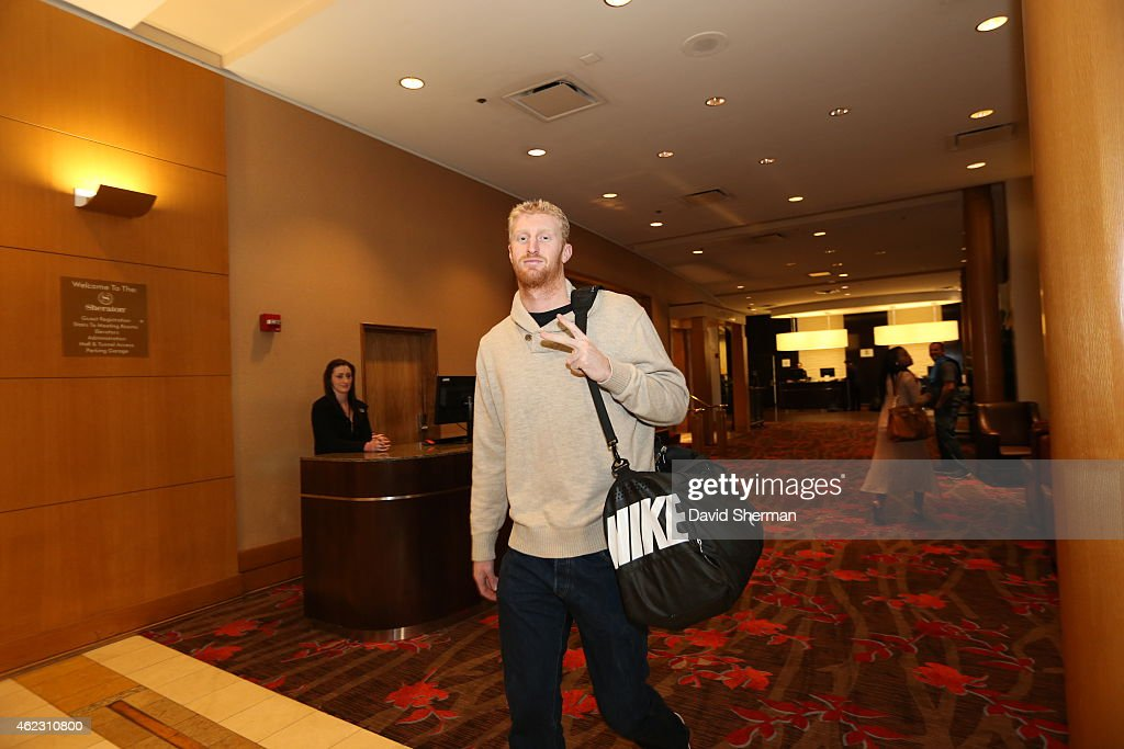 <a gi-track='captionPersonalityLinkClicked' href=/galleries/search?phrase=Chase+Budinger&family=editorial&specificpeople=3847600 ng-click='$event.stopPropagation()'>Chase Budinger</a> #10 of the Minnesota Timberwolves leaves the hotel to go play a game against the Oklahoma City Thunder on January 26, 2015 at Chesapeake Energy Arena in Oklahoma City, Oklahoma.