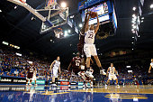 Chase Buford of the Kansas Jayhawks grabs a rebound during the second half of the game against the Louisiana Monroe Warhawks on November 9 2007 at...