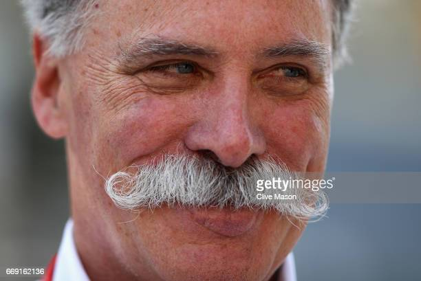 Chase Carey CEO and Executive Chairman of the Formula One Group in the Paddock during the Bahrain Formula One Grand Prix at Bahrain International...
