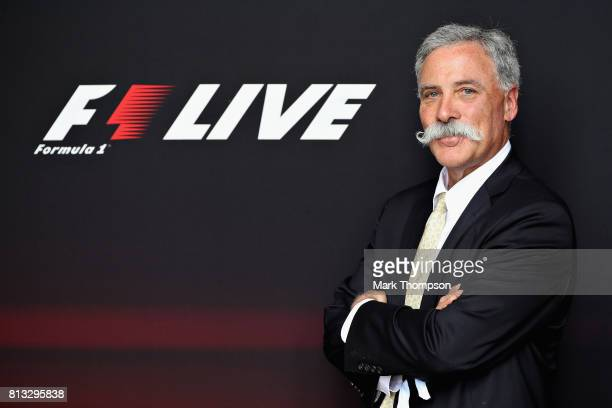 Chase Carey CEO and Executive Chairman of the Formula One Group poses for a photo during F1 Live London at Trafalgar Square on July 12 2017 in London...