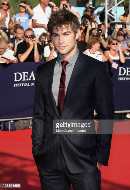 Chase Crawford poses for the premiere of the movie Twelve at the 36th Deauville American Film Festival on September 5 2010 in Deauville France