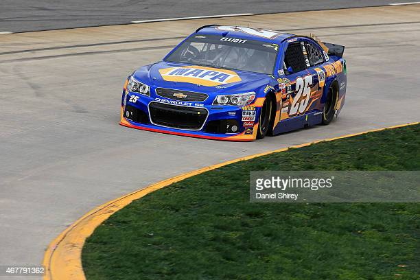 Chase Elliott driver of the NAPA AUTO PARTS Chevrolet practices for the NASCAR Sprint Cup Series STP 500 at Martinsville Speedway on March 27 2015 in...