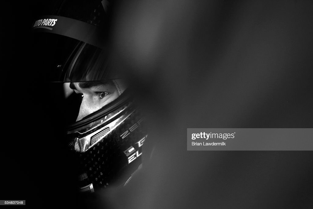 <a gi-track='captionPersonalityLinkClicked' href=/galleries/search?phrase=Chase+Elliott&family=editorial&specificpeople=3623017 ng-click='$event.stopPropagation()'>Chase Elliott</a>, driver of the #24 NAPA Auto Parts Chevrolet, sits in his car during practice for the NASCAR Sprint Cup Series Coca-Cola 600 at Charlotte Motor Speedway on May 28, 2016 in Charlotte, North Carolina.