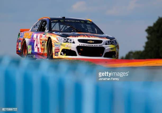 Chase Elliott driver of the SunEnergy1 Chevrolet drives during the Monster Energy NASCAR Cup Series I Love NY 355 at The Glen at Watkins Glen...