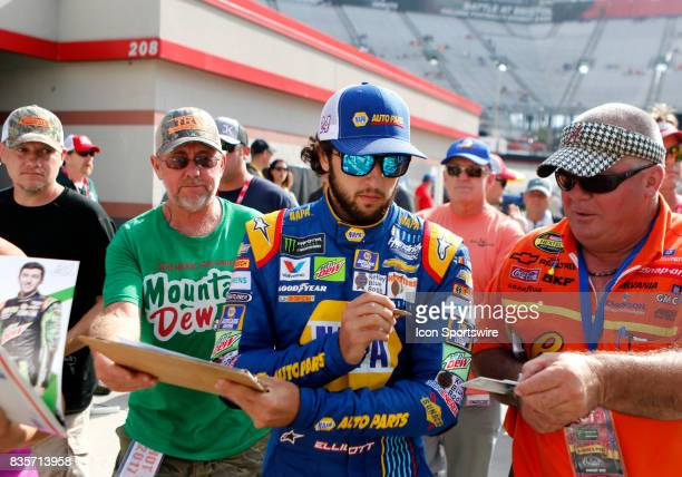 Chase Elliott Hendrick Motorsports NAPA Chevrolet SS during practice for the Bass Pro Shop NRA 500 at Bristol Motor Speedway on August 18 2017 Photo...