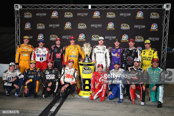 Chase for the Sprint Cup drivers pose for a photo after the NASCAR Sprint Cup Series Federated Auto Parts 400 at Richmond International Raceway on...